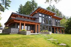 Timberframe Exterior Exterior Contemporary With Orange