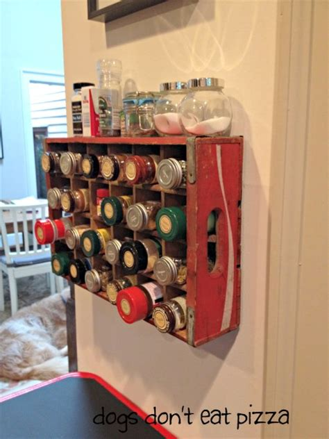 coke crate repurposed   spice rack knick  time