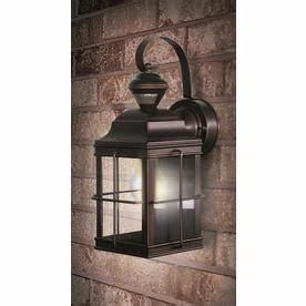 Motion Sensor Light Bulb Lowes Secure Home New England Carriage 14 75 In H Antique Bronze