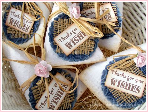 shabby chic favors sour cream container wedding favors