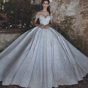 Ball Gown Off The Shoulder Sweep Train White Wedding Dress