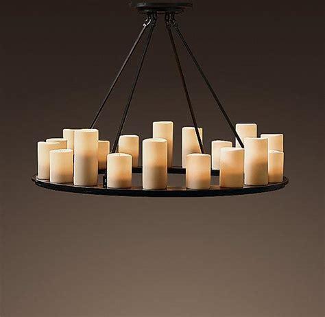 pillar candle medium chandelier chandeliers