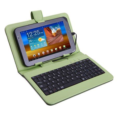 Leather Keyboar Tab 7 Micro hde keyboard for 7 inch samsung tablets leather