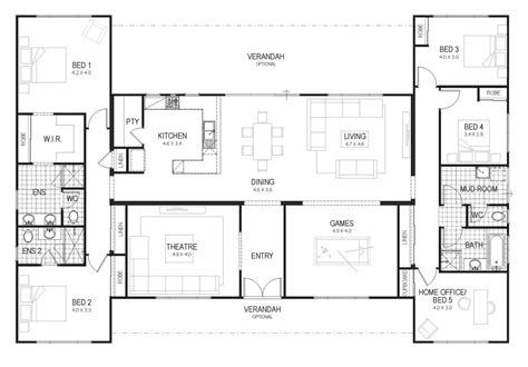 floor plan friday country home    family house