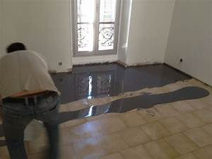sol pieces a vivre en resine epoxyretour d39experience With résine sur carrelage sol