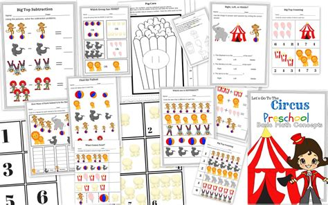 circus preschool activities free circus themed printables and crafts 391