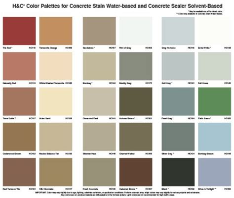 color h 9 best h c concrete stain images on decorative