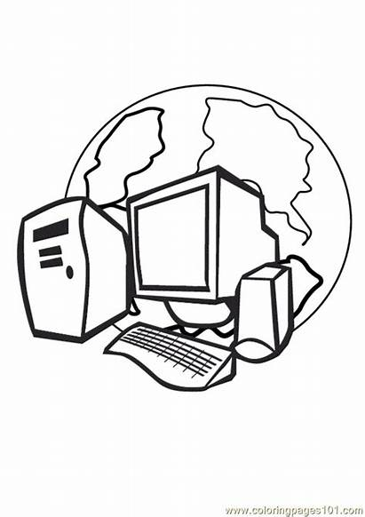 Coloring Computer Pages Printable Coloringpages101 Parts Getcoloringpages