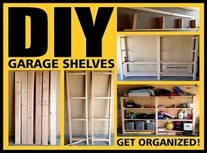 Garage Shelves DIY - How To Build A Shelving Unit With