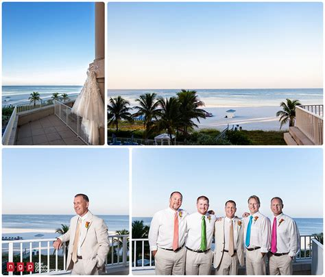 pink shell wedding kacey mark fort myers beach