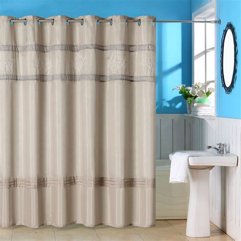 grommet shower curtain lavish home radcliff embroidered grommet style shower