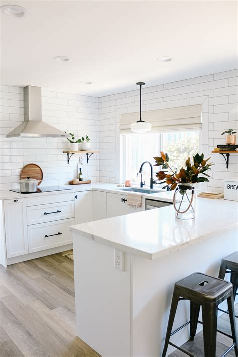 white semihandmade kitchen renovation