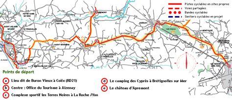 maps la roche sur yon cycling map from la roche sur yon to st gilles croix de vie