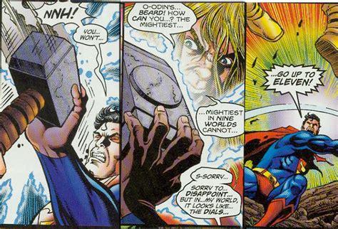 superman vs thor battles comic vine