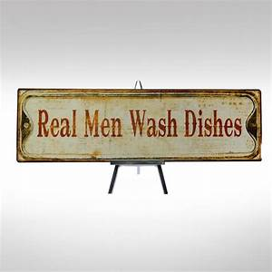Real Men Wash Dishes sign