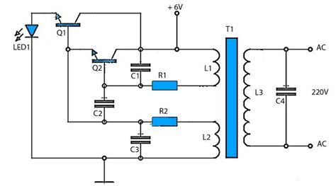 Circuit Diagram 12v To 6v by This 6v To 220v Inverter Circuit Schematic Is One Of The