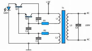 This 6v To 220v Inverter Circuit Schematic Is One Of The Voltage Inverter Circuit  Starting From