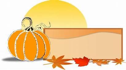 Pumpkin Fall Clip Banner Clipart Sign Leaves