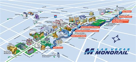 route map las vegas monorail