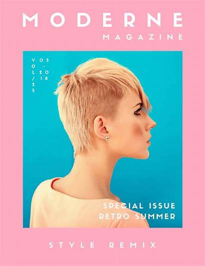 Magazine Covers Templates Background Canva Template Pink