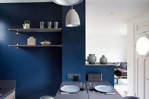du bleu canard en deco dans une cuisine ouverte With palette couleur peinture mur 14 amenagement optimise et deco pour ma cuisine ouverte
