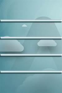 雲模様の棚 640x960 : オシャレなiPhoneホーム画面の棚・フレーム ...
