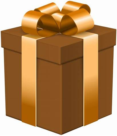 Clip Transparent Gift Brown Clipart Boxes Gifts