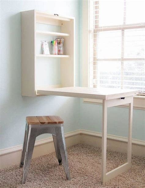 create  mini office  craft table   wall anyplace