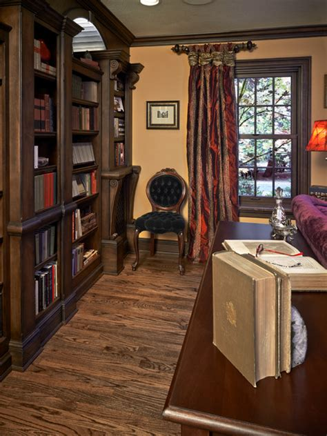 english library traditional home office portland