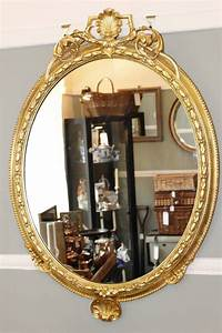 Wall, Mirror, Circa, 1860, -, Antique, Mirrors