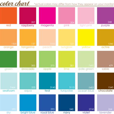 Look At The Birdie And Smile A Color Chart