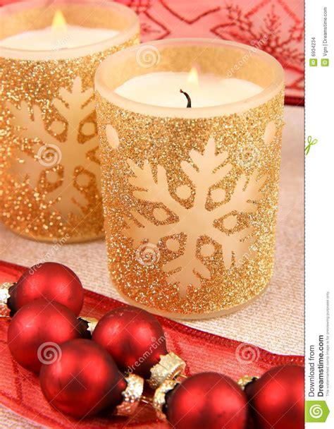 stock candele candele di natale fotografia stock immagine di lucido