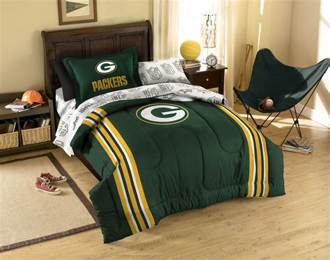 nfl green bay packers twin single bedding set green