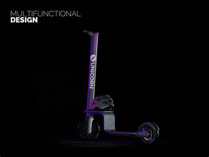 Scooter Unicorn Industrial Brand Scooters Identity Smart