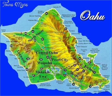 oahu map toursmapscom