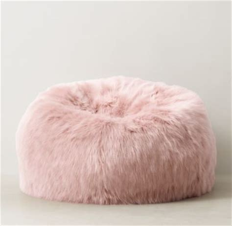 kashmir faux fur bean bag dusty restoration