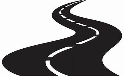 Road Cartoon Vector Winding Clipart Highway Different