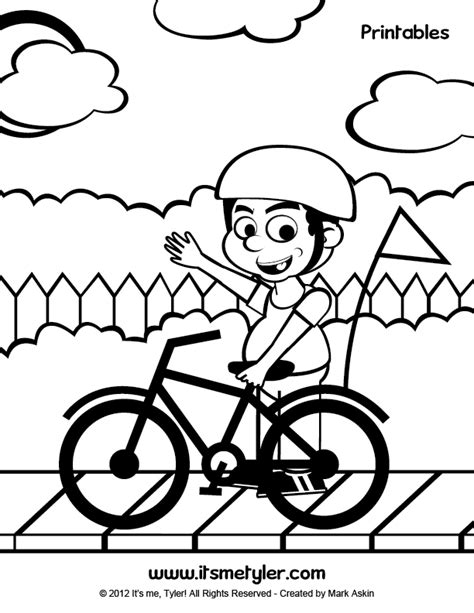Bike Safety Coloring Pages