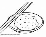 Rice Template Coloring Pages sketch template