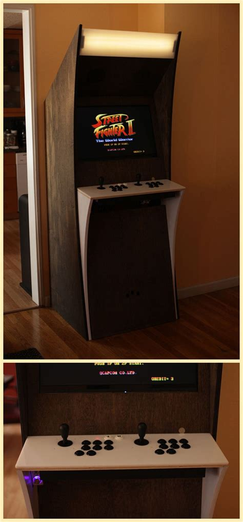custom arcade cabinet stylish custom arcade cabinet via reddit user scalarr