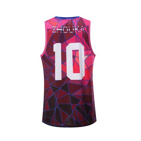 men basketball jersey design color pink wholesale