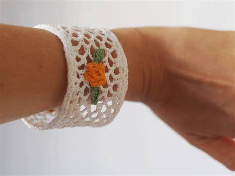 fiori di cotone all uncinetto bracciale di cotone bianco in pizzo all uncinetto