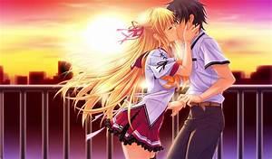 Wallpaper Girl And Boy Kiss