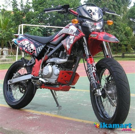 D Tracker 150 Modif Supermoto by Jual Kawasaki D Tracker 150 Modif Supermoto Motor