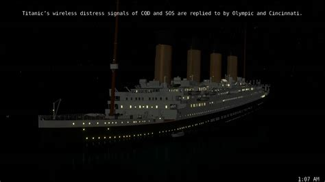 Titanic Sinking Animation Real Time by Titanic Real Time Sinking Animation Pt 5