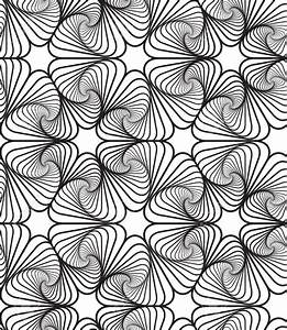 Black And White Op Art Design Vector Seamless Pattern ...