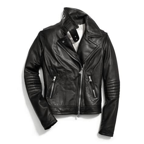 jacket moto coach slim leather moto jacket in black lyst