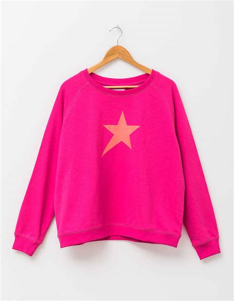 stella gemma sweater pop sugar pink  star