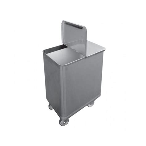 bac sel farine inox avec couvercle 130 litres chr avenue