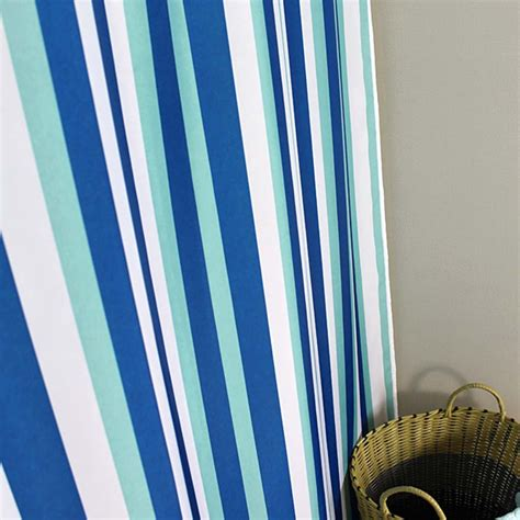 Blue Vertical Striped Curtains by Blue Stripe Shower Curtain